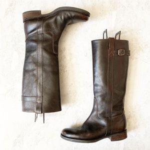 J. Crew Brown Leather Brewster Riding Boots 7